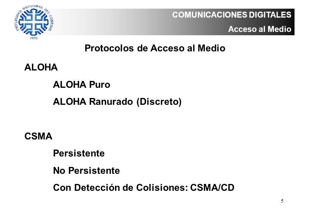 Protocolos de Acceso al Medio