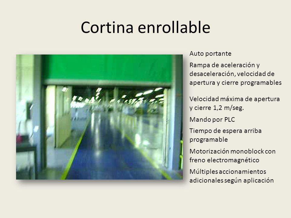 Cortina enrollable Auto portante
