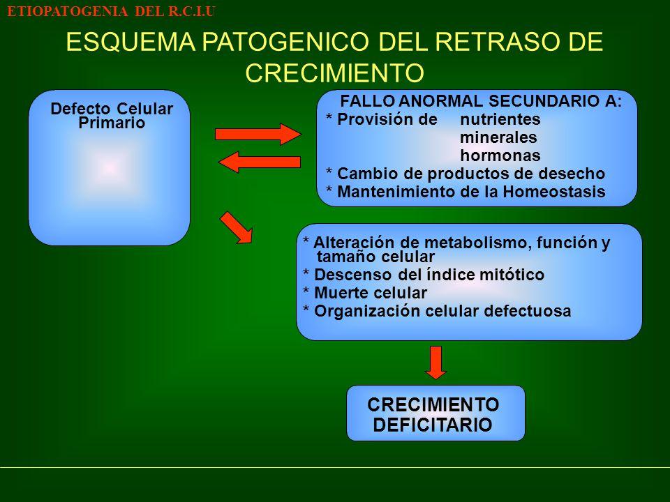 FALLO ANORMAL SECUNDARIO A: Defecto Celular Primario