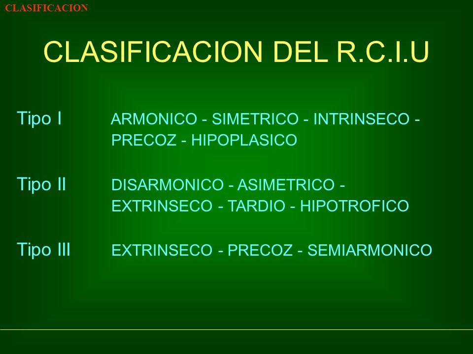 CLASIFICACION DEL R.C.I.U