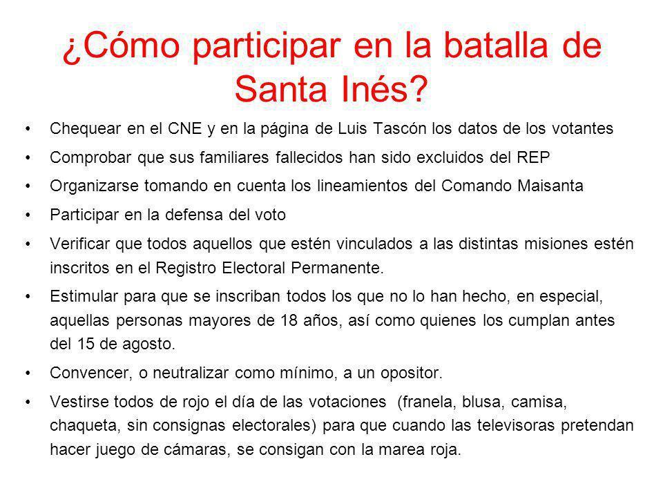 ¿Cómo participar en la batalla de Santa Inés