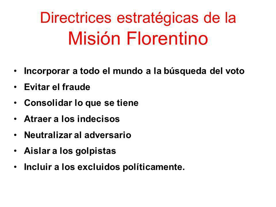 Directrices estratégicas de la Misión Florentino