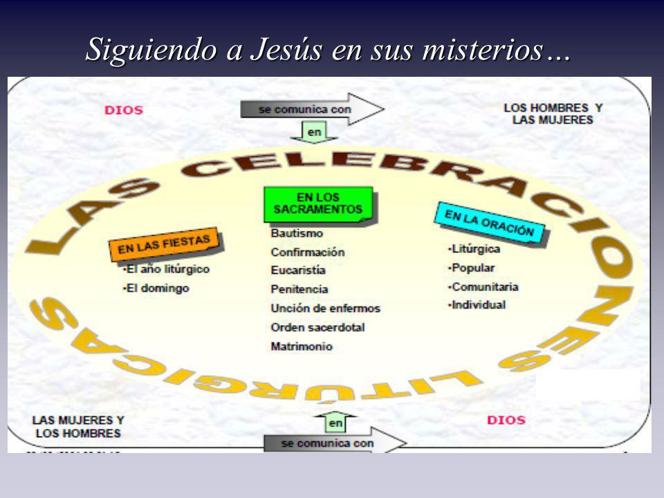 Siguiendo a Jesús en sus misterios…