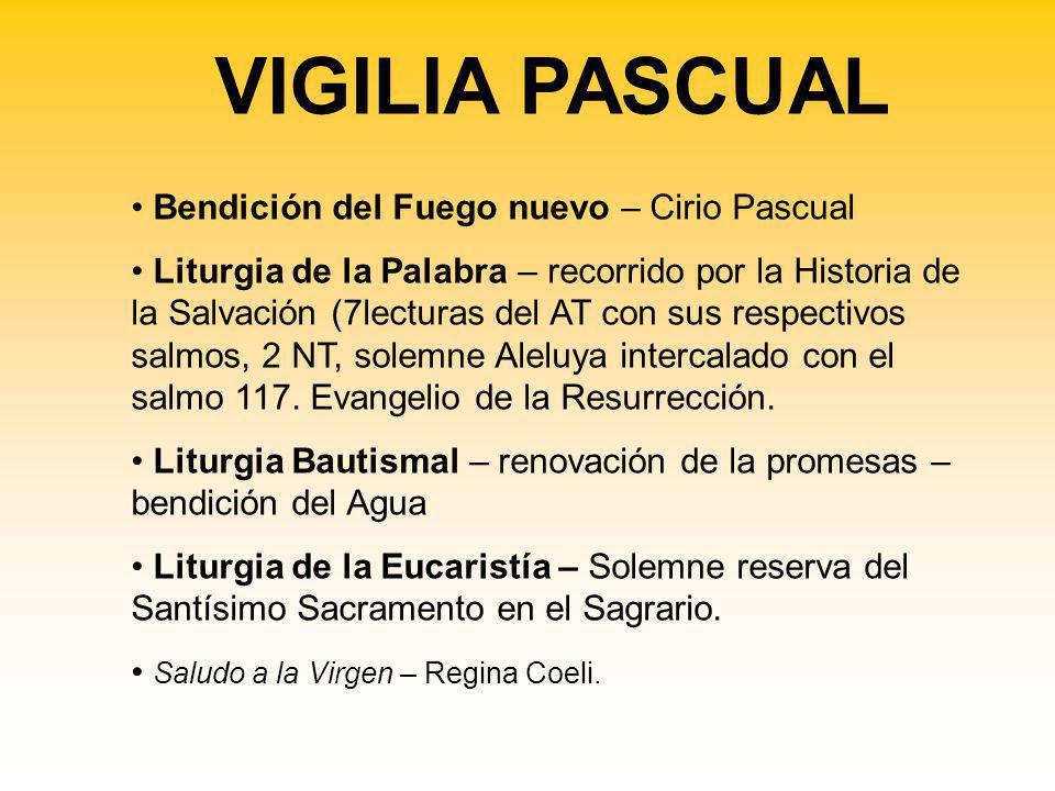 VIGILIA PASCUAL Bendición del Fuego nuevo – Cirio Pascual
