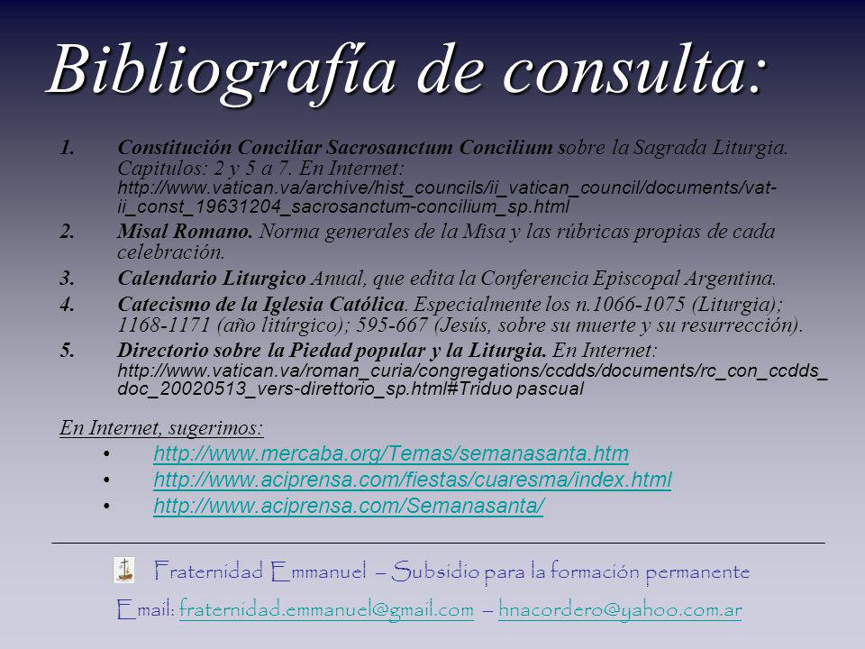 Bibliografía de consulta: