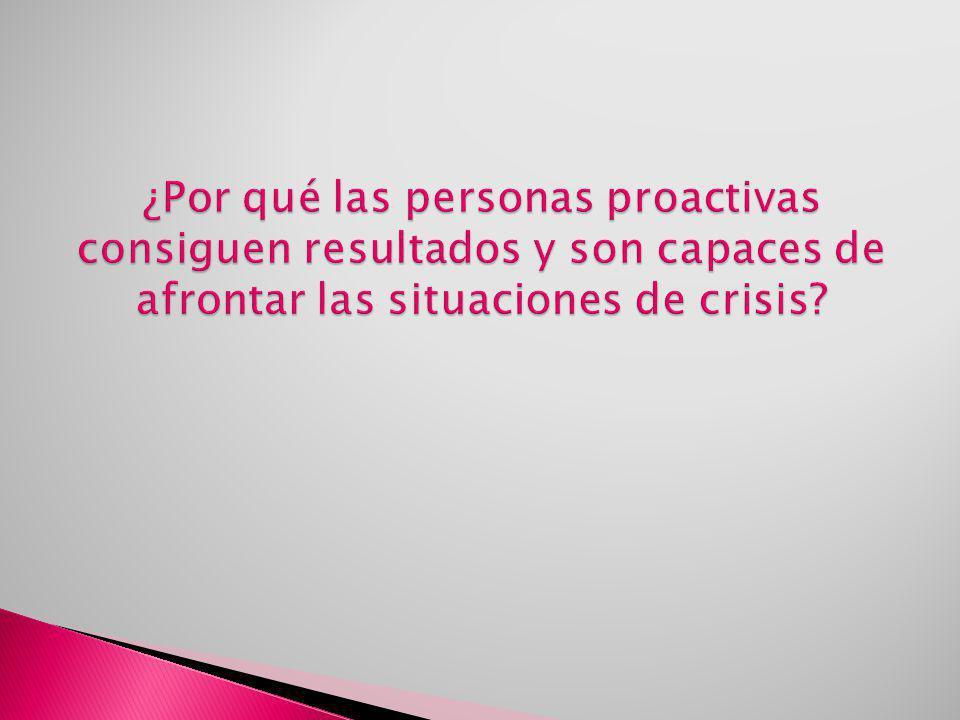 ¿Por qué las personas proactivas consiguen resultados y son capaces de afrontar las situaciones de crisis