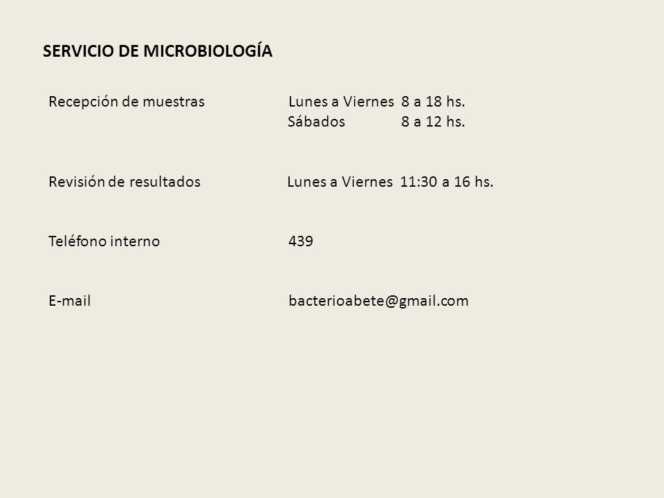 SERVICIO DE MICROBIOLOGÍA