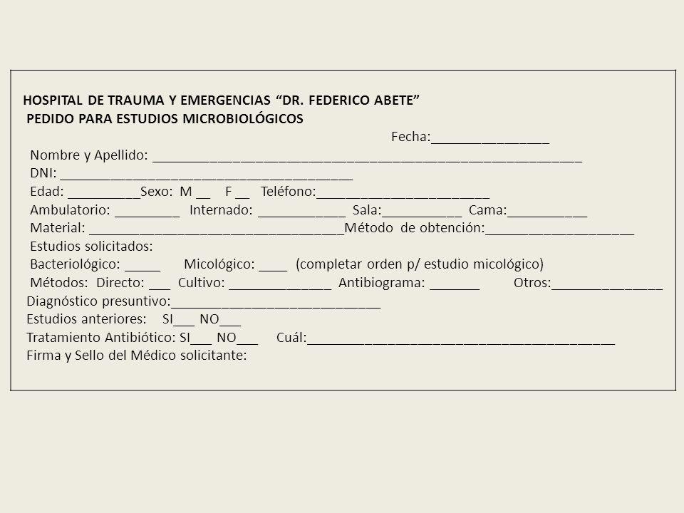 HOSPITAL DE TRAUMA Y EMERGENCIAS DR. FEDERICO ABETE