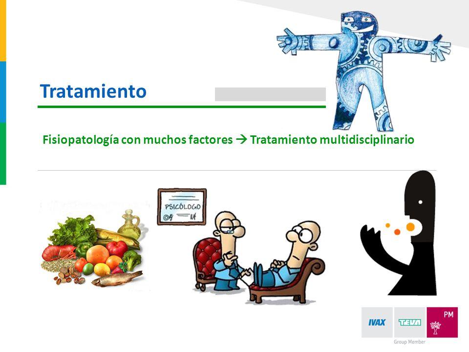 Tratamiento Fisiopatología con muchos factores  Tratamiento multidisciplinario