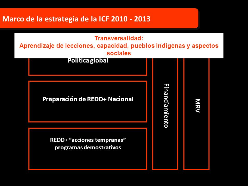 REDD+ acciones tempranas programas demostrativos