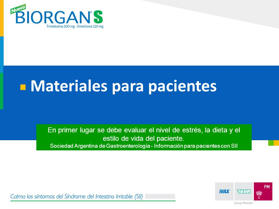 Materiales para pacientes