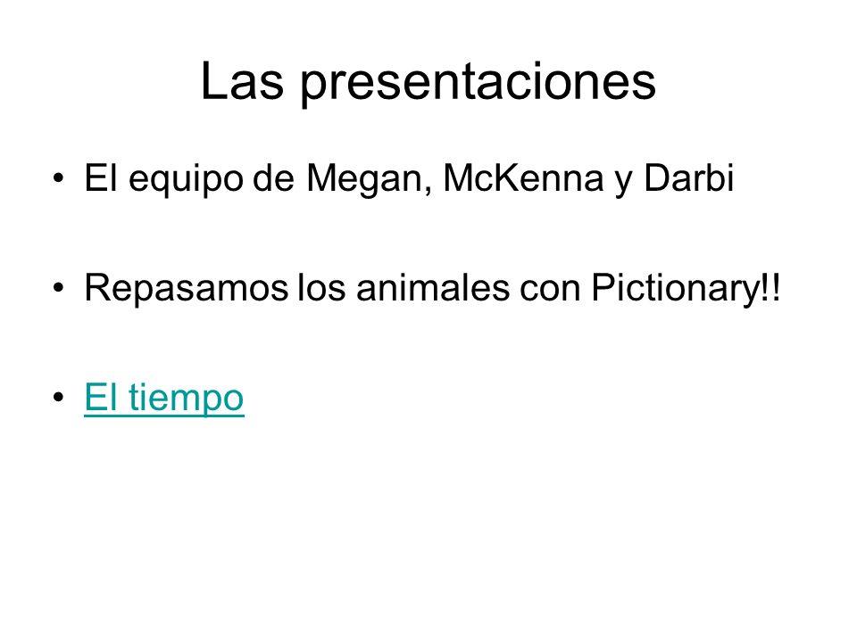 Las presentaciones El equipo de Megan, McKenna y Darbi