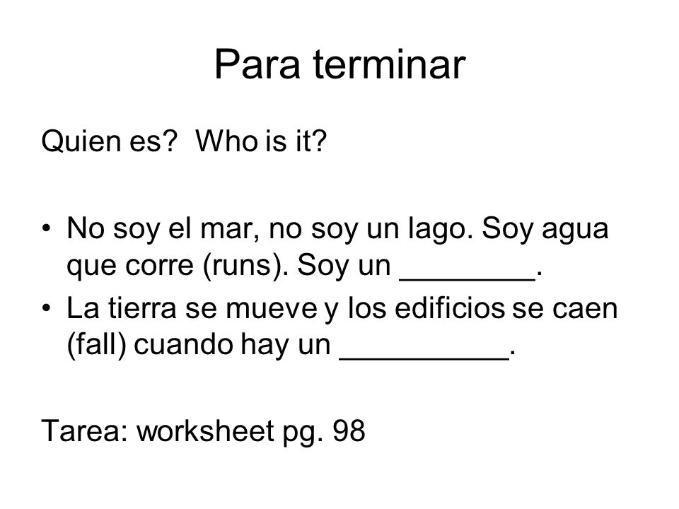 Para terminar Quien es Who is it