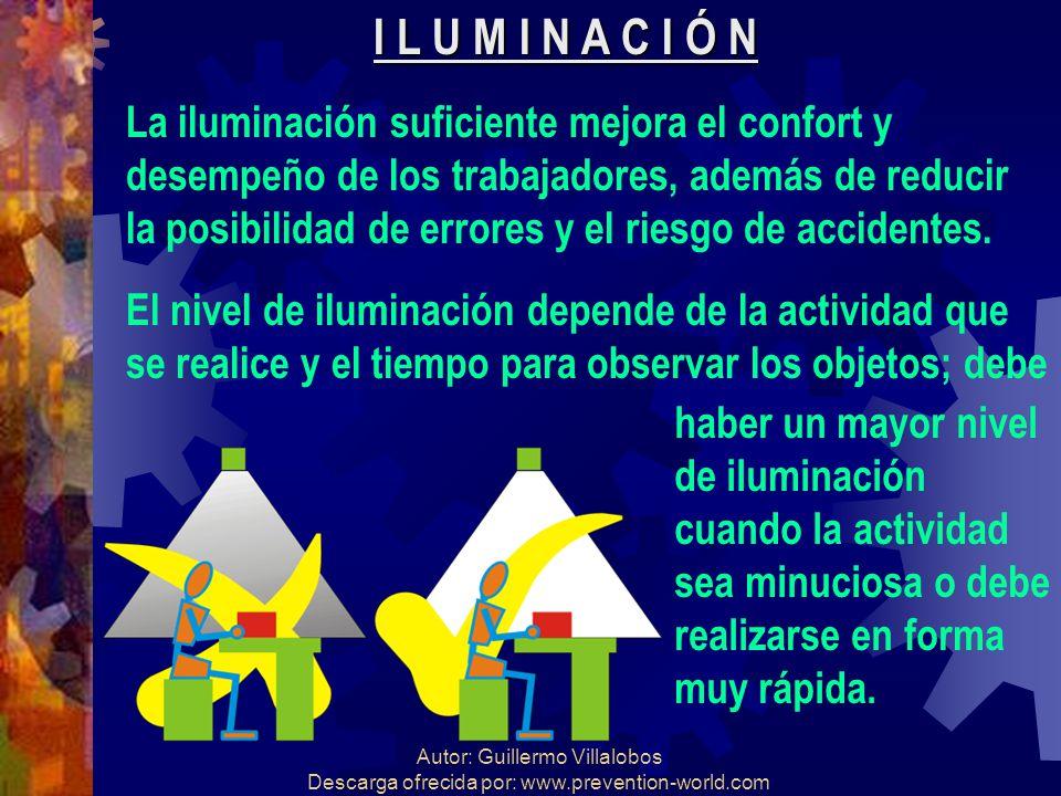 I L U M I N A C I Ó N La iluminación suficiente mejora el confort y