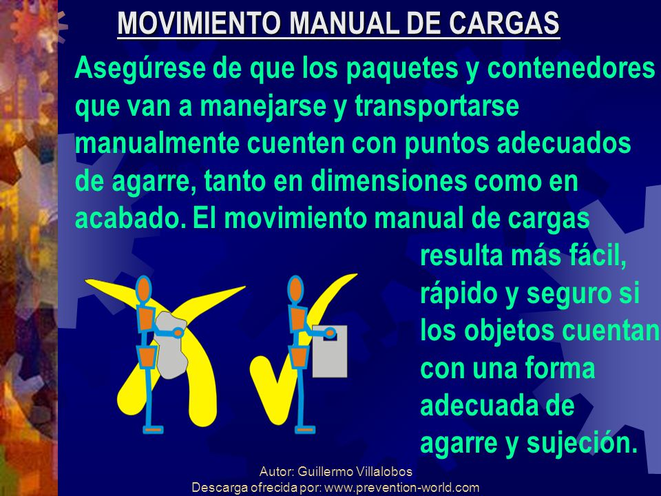MOVIMIENTO MANUAL DE CARGAS