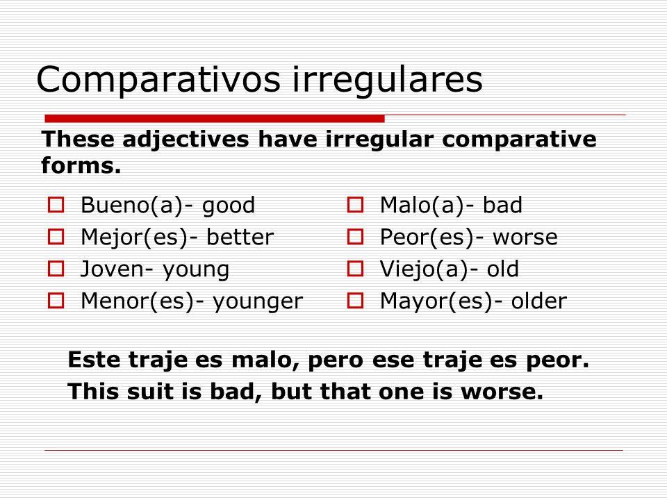 Comparativos irregulares