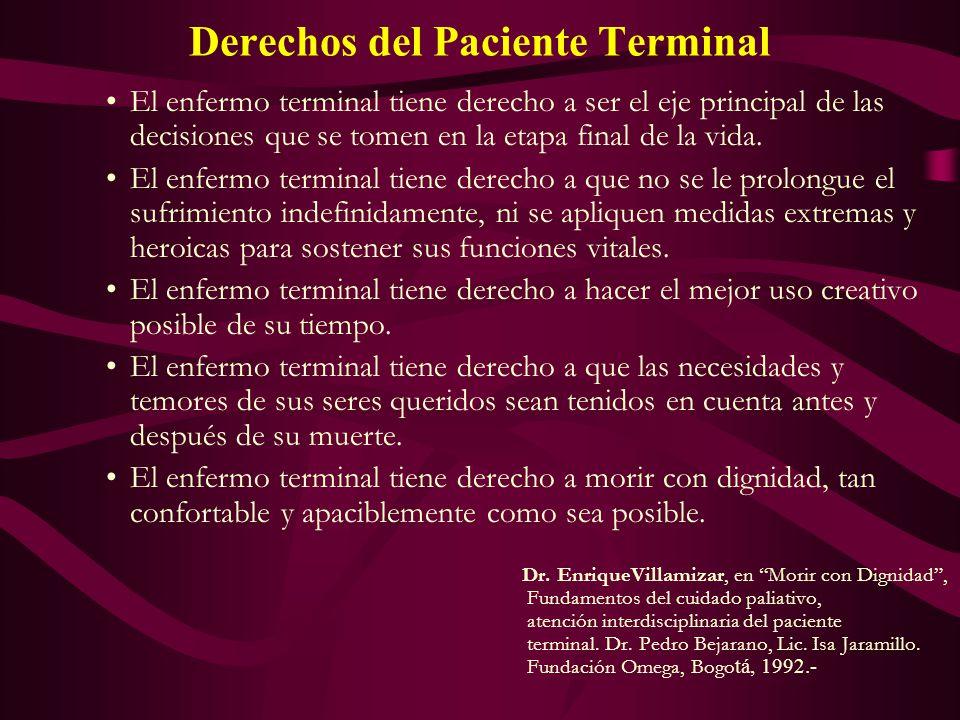 Derechos del Paciente Terminal