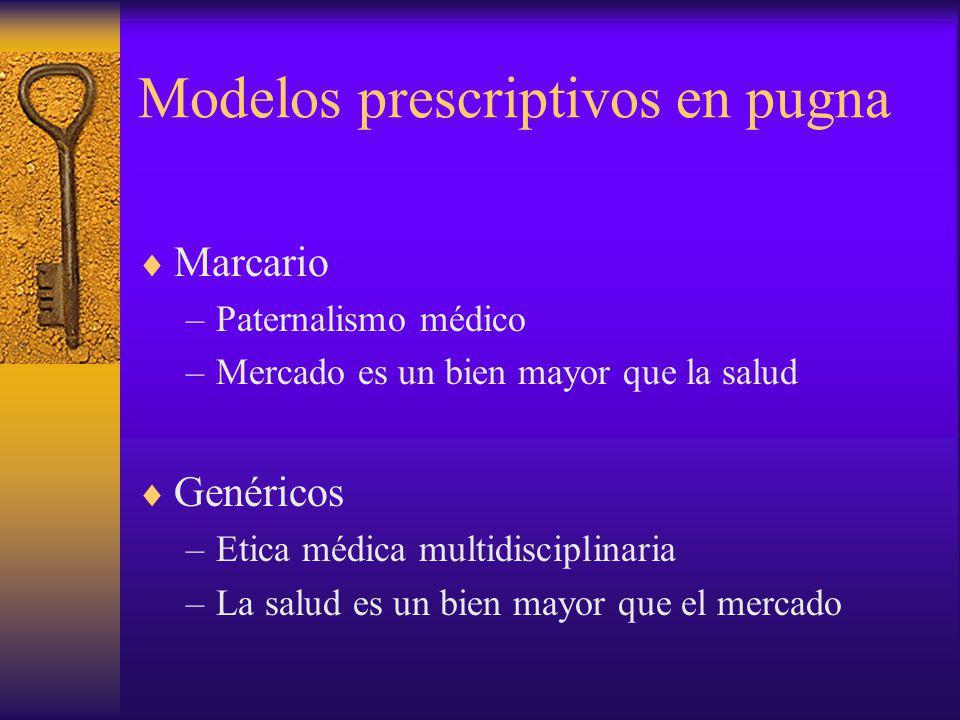 Modelos prescriptivos en pugna