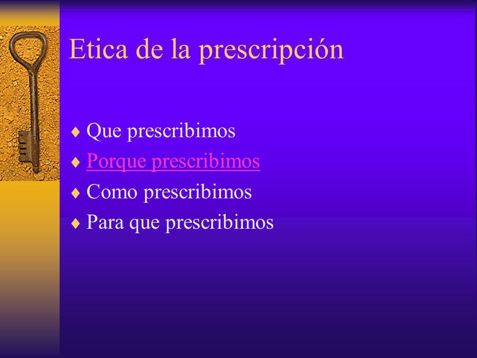 Etica de la prescripción