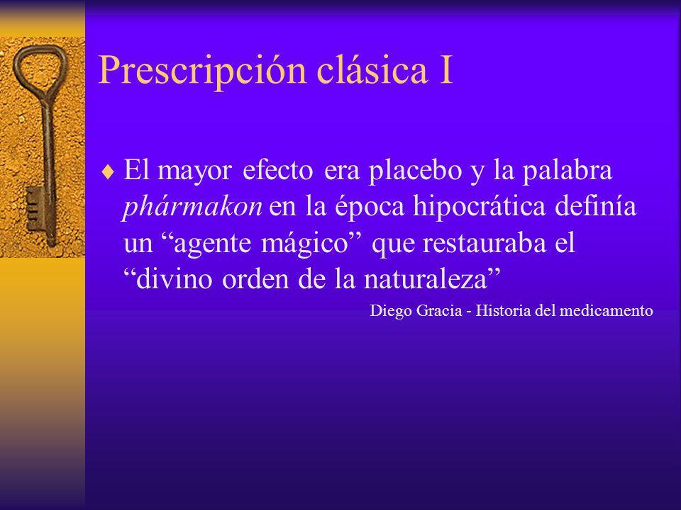 Prescripción clásica I