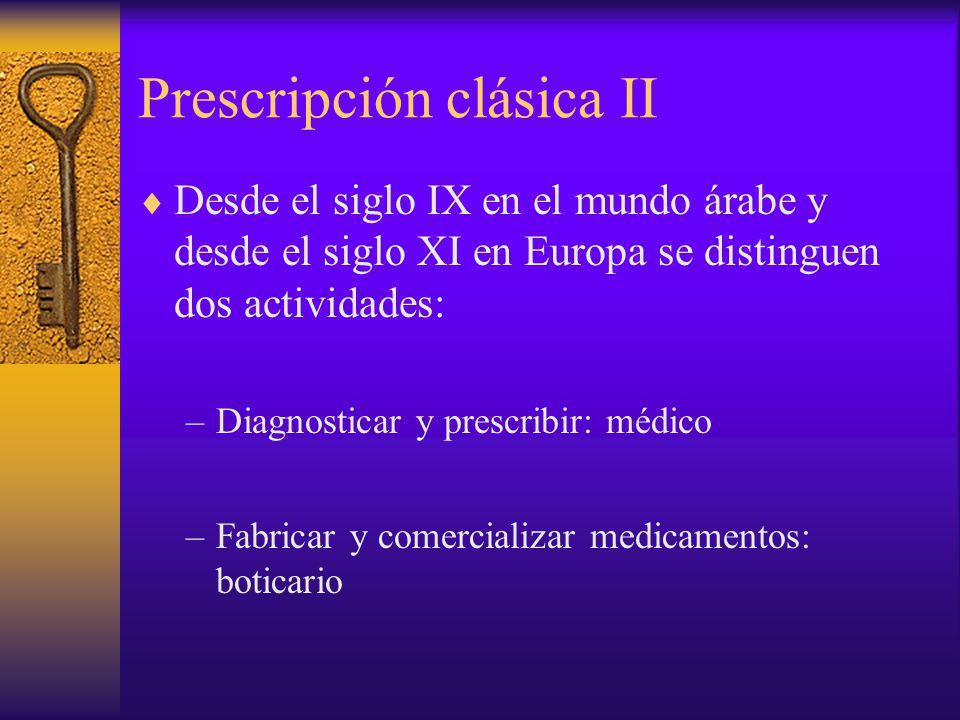 Prescripción clásica II
