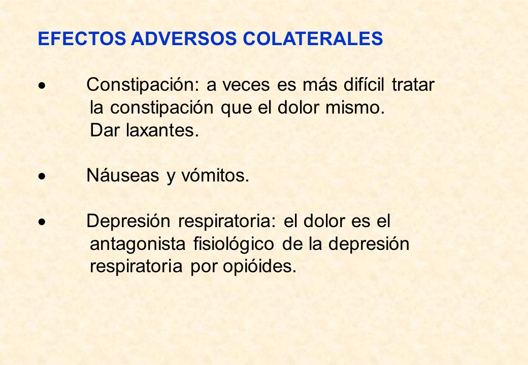 EFECTOS ADVERSOS COLATERALES