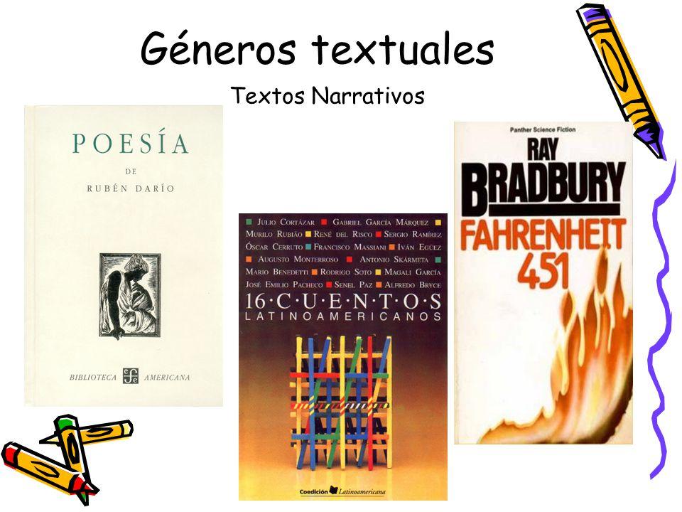 Géneros textuales Textos Narrativos