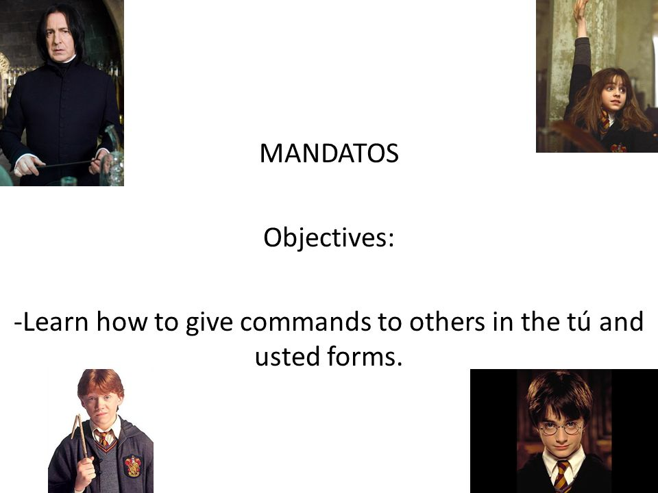 -Learn how to give commands to others in the tú and usted forms.