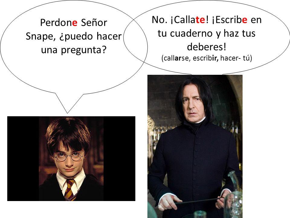Perdone Señor Snape, ¿puedo hacer una pregunta