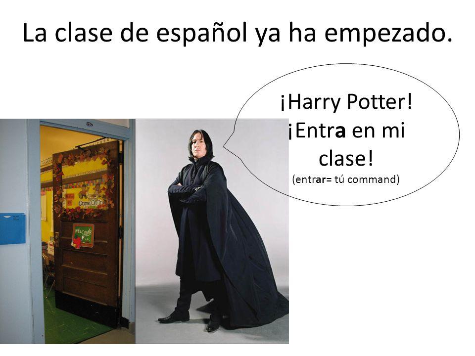 La clase de español ya ha empezado.