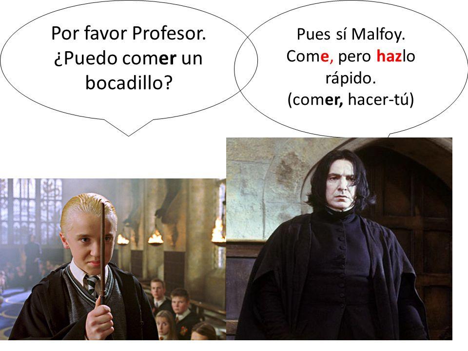 Por favor Profesor. ¿Puedo comer un bocadillo