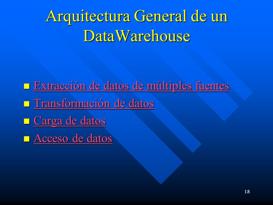 Arquitectura General de un DataWarehouse