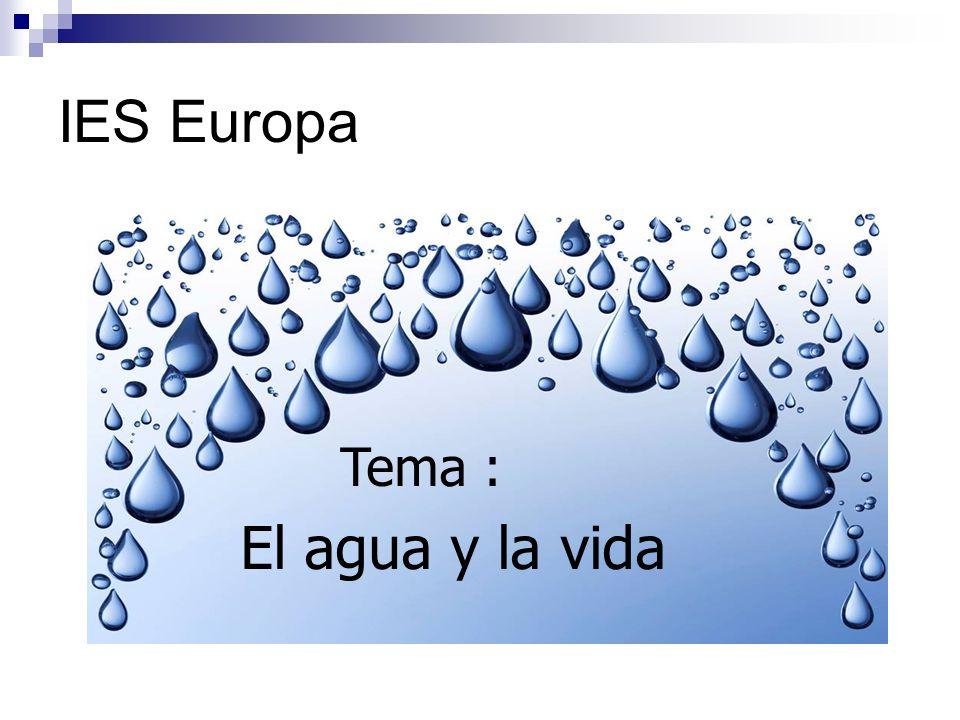 IES Europa Tema : El agua y la vida