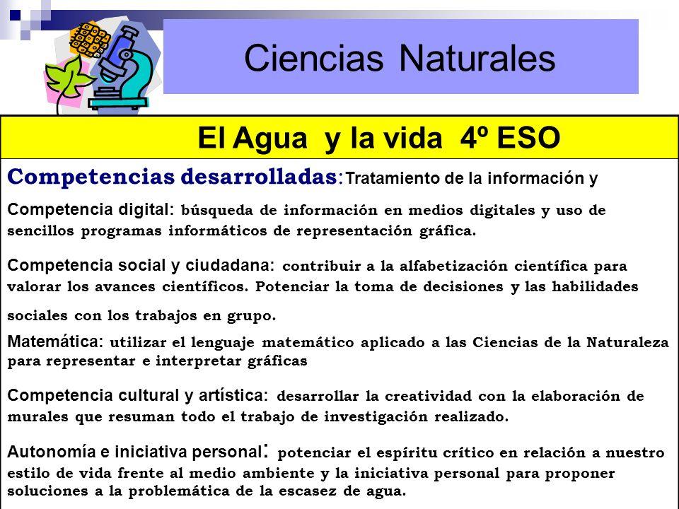 Ciencias Naturales El Agua y la vida 4º ESO