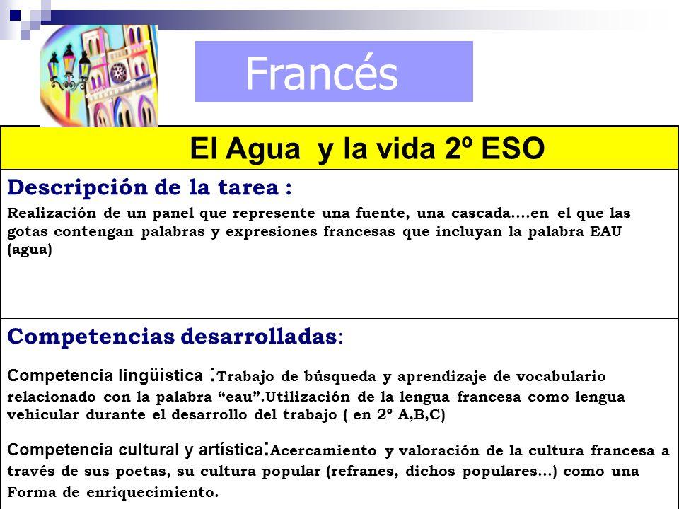 Francés El Agua y la vida 2º ESO
