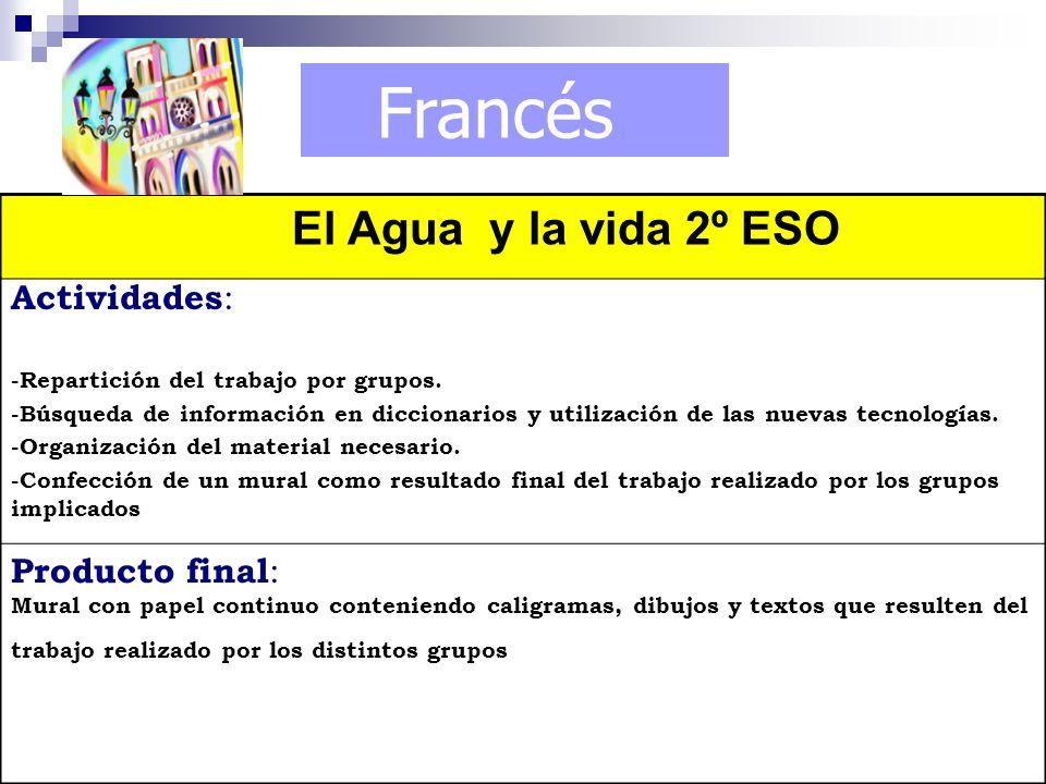 Francés El Agua y la vida 2º ESO Actividades: Producto final: