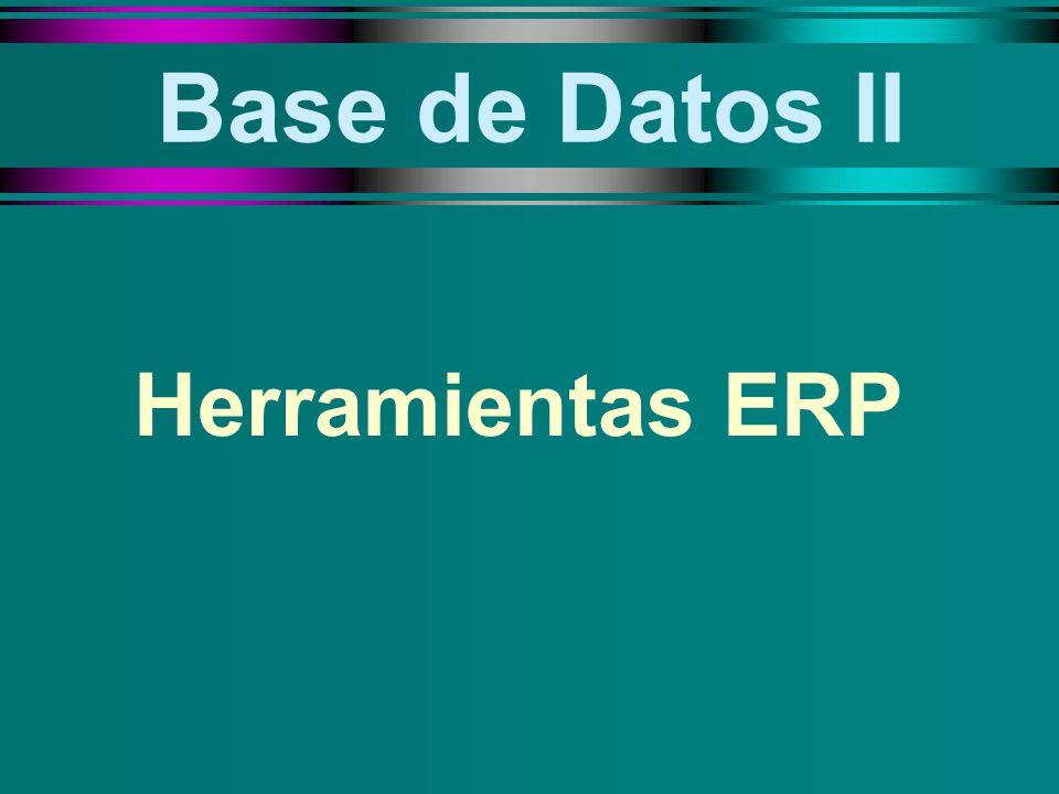 Base de Datos II Herramientas ERP