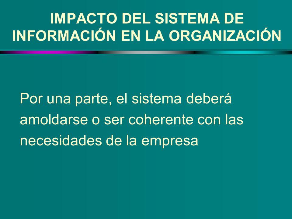 IMPACTO DEL SISTEMA DE INFORMACIÓN EN LA ORGANIZACIÓN