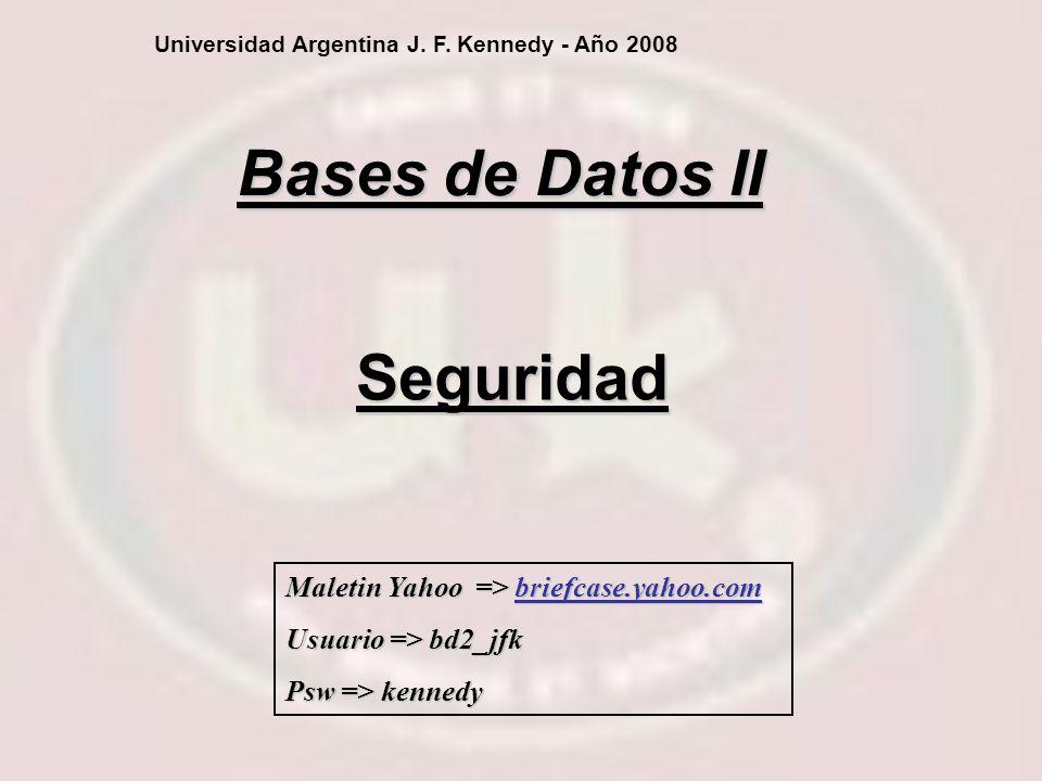 Bases de Datos II Seguridad