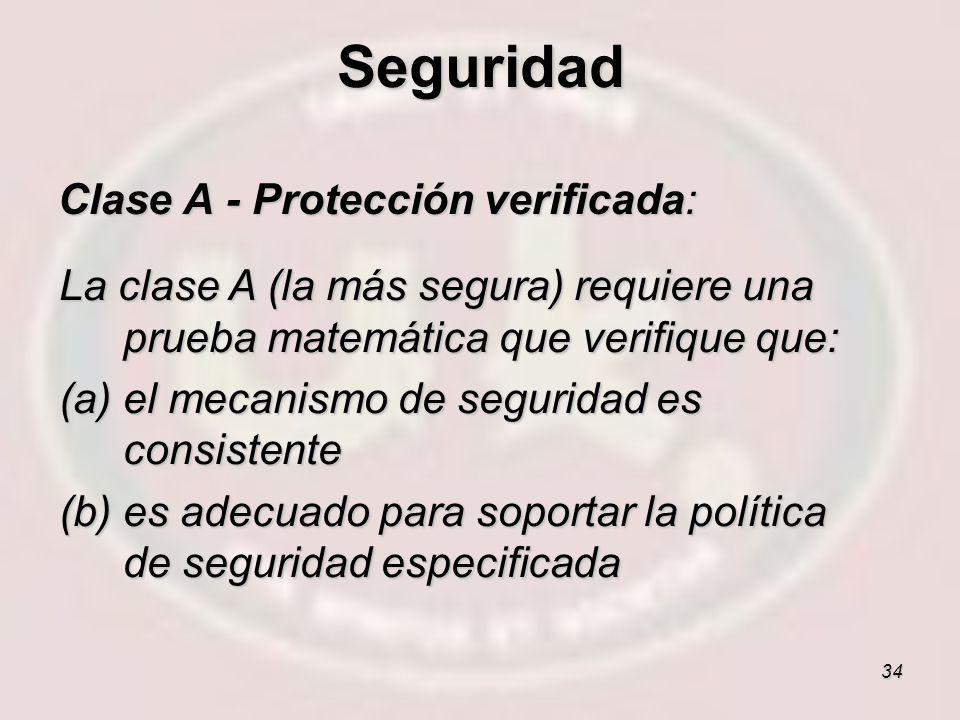 Seguridad Clase A - Protección verificada: