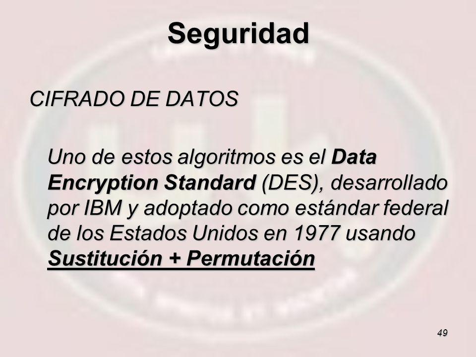 Seguridad CIFRADO DE DATOS