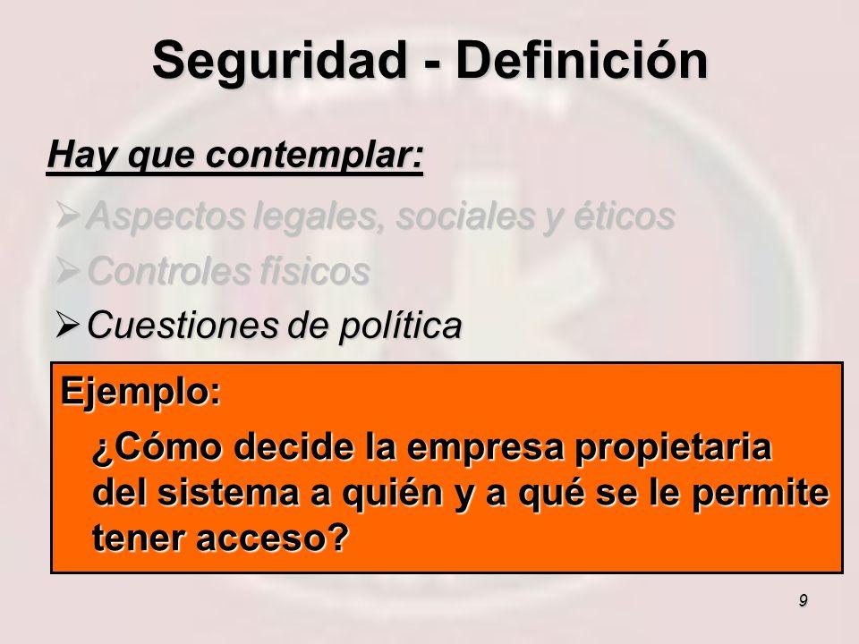 Seguridad - Definición