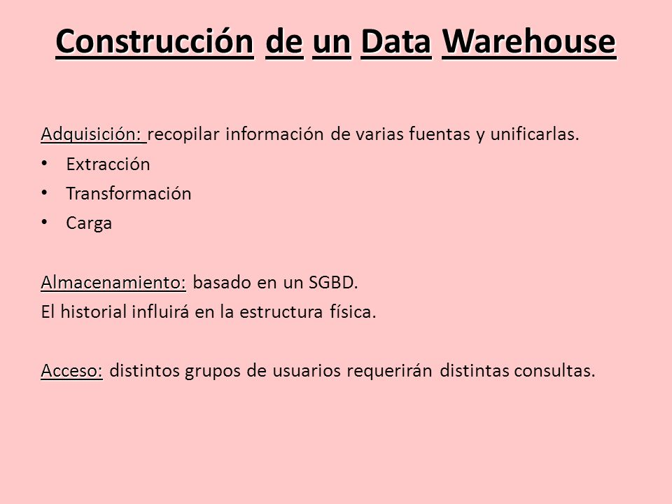 Construcción de un Data Warehouse