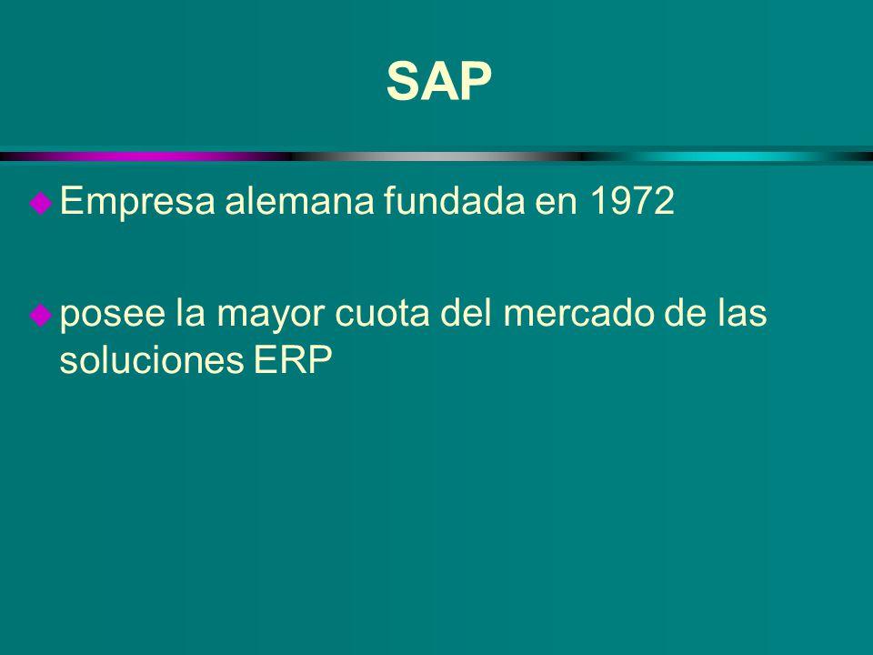 SAP Empresa alemana fundada en 1972