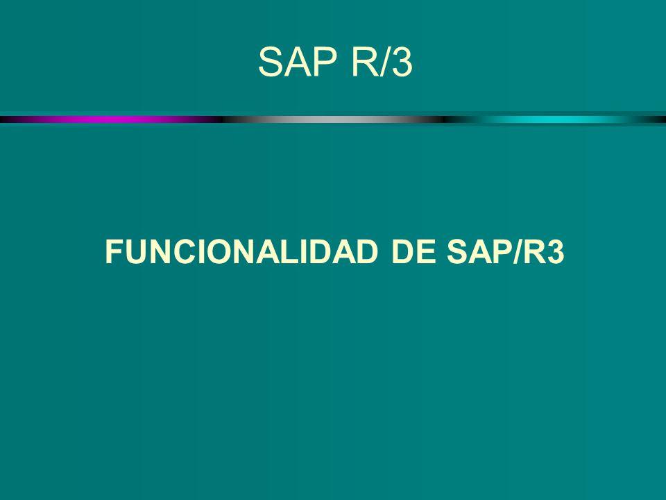 FUNCIONALIDAD DE SAP/R3