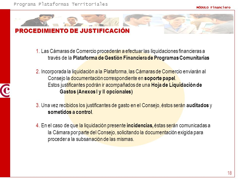 PROCEDIMIENTO DE JUSTIFICACIÓN