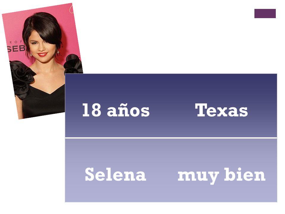 18 años Texas Selena muy bien