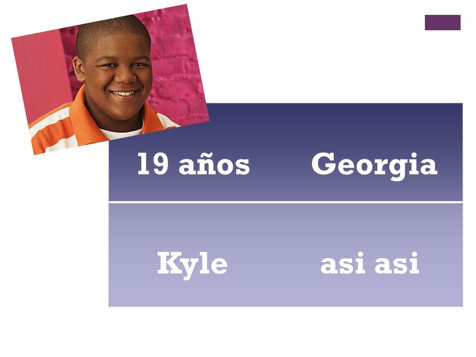 19 años Georgia Kyle asi asi