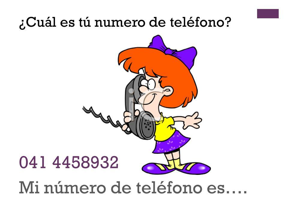 Mi número de teléfono es….