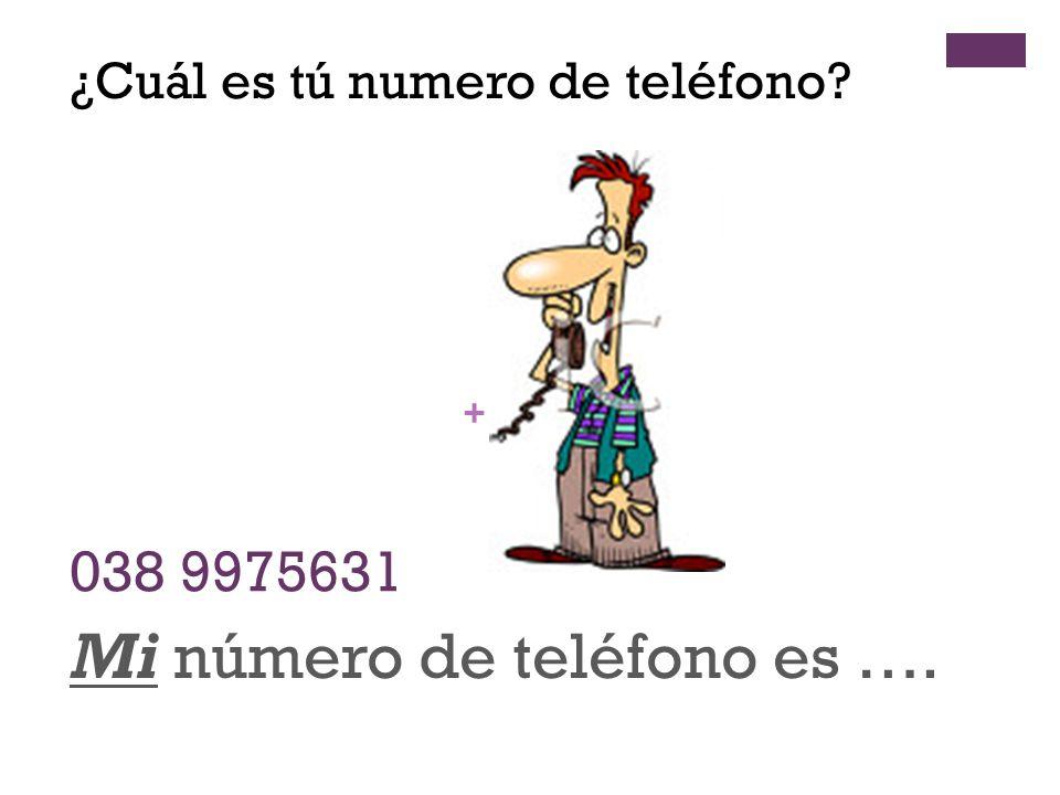 Mi número de teléfono es ….